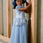 Cinderella picks up a hammer.