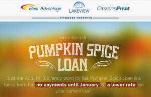 Pumpkin Spice Loan?